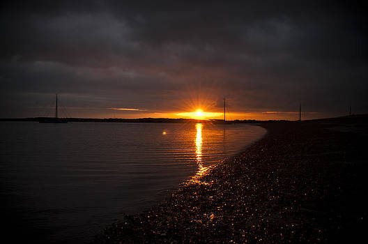 Sunset in West Mersea by David Isaacson