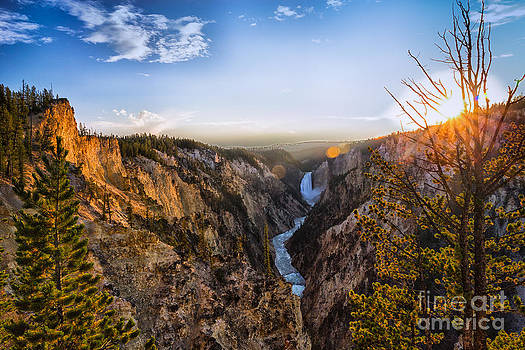 Sunset in Yellowstone Grand Canyon by Sophie Doell
