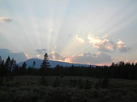 Sunset in Yellowstone by Richard Jones