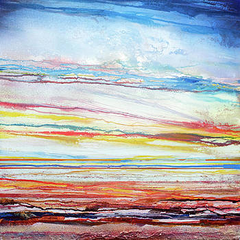 Sunset Low Tide Rhythms and textures 5 by Mike   Bell