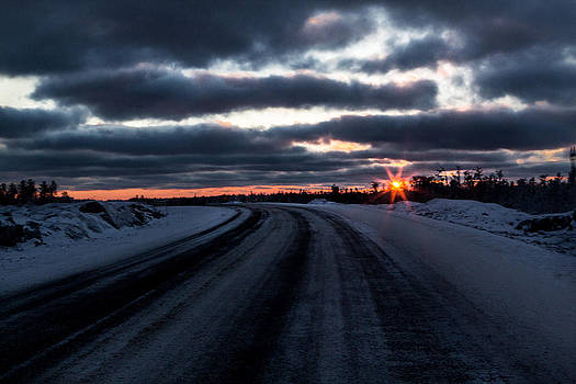Sunset North of 60 by Valerie Pond