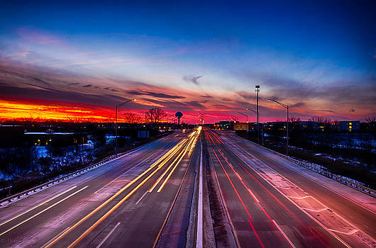 Sunset North of Chicago 12-12-13 002 by Michael  Bennett