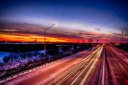 Sunset North of Chicago 12-12-13 004 by Michael  Bennett