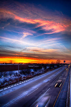 Sunset North of Chicago 12-12-13 by Michael  Bennett