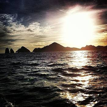 #sunset #ocean #boat #cabo by Julia Goldberg