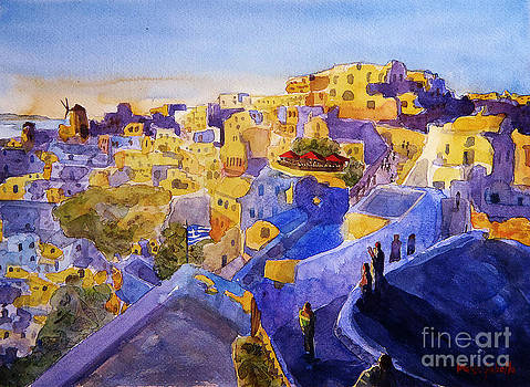 Sunset of gold and blue by Marisa Gabetta