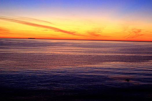 Sunset Off Point Vicente by Eve Paludan