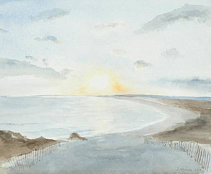 Sunset on an Eastern Sea by Jean Moule