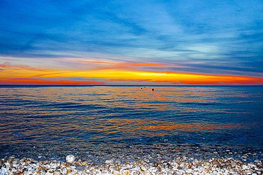 Sunset On Atlantic Ocean by Julia Fine Art And Photography