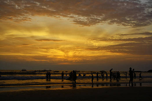 Sunset on Baga Beach by Arkamitra Roy