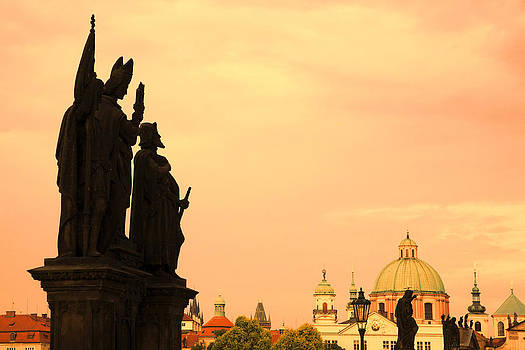 Sunset on Charles Bridge by Joanna Madloch