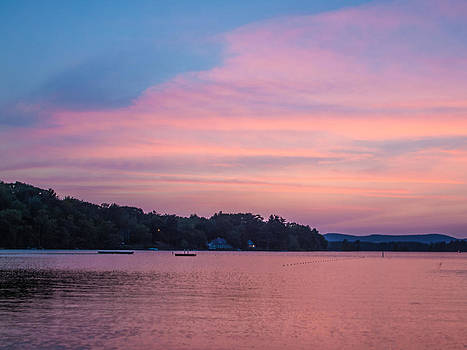 Sunset on Chickawaukee Lake by Ernest Puglisi