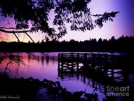 Sunset on Lake Ballinger by Eddie Eastwood