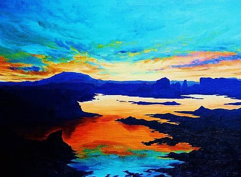 Sunset on Lake Powell by Cynthia Sampson