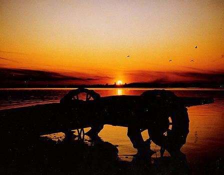 Sunset on Lake Wahtoponek by Larry Trupp