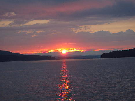Sunset on Lake Winnipesaukee by Jen Seel
