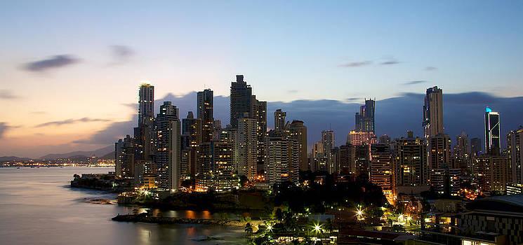 Sunset on Panama City by Ivan SABO