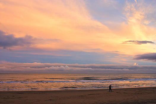 Sunset on Sandown Beach by Jeremy Hayden