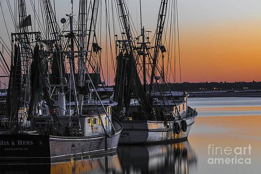 Dale Powell - Shem Creek Sunset - Charleston SC