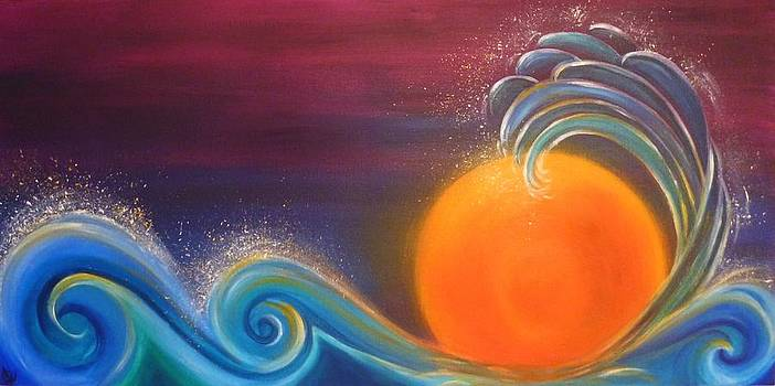 Sunset on Surf by Reina Cottier