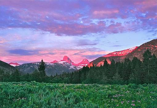 Sunset on the Backside of the Tetons by Larry Bodinson