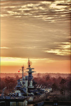 Sunset on the Battleship by Chris Brehmer Photography