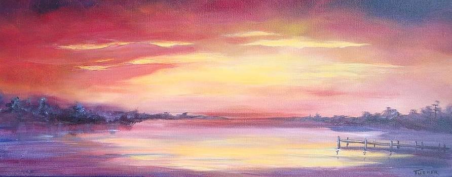 Sunset on the Bay by Kathleen Tucker