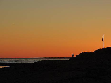 Sunset on the beach by Anastasia Konn