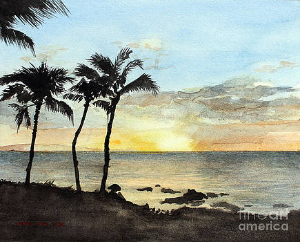 Sunset On The Coast by Monte Toon