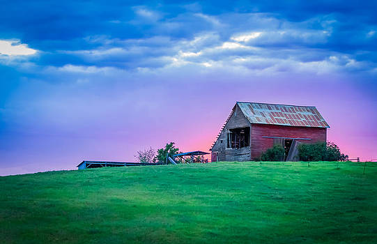 Sunset on the Farm by Rick Colby