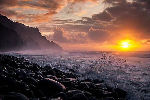 Tim Newton - Sunset on the Kalalau