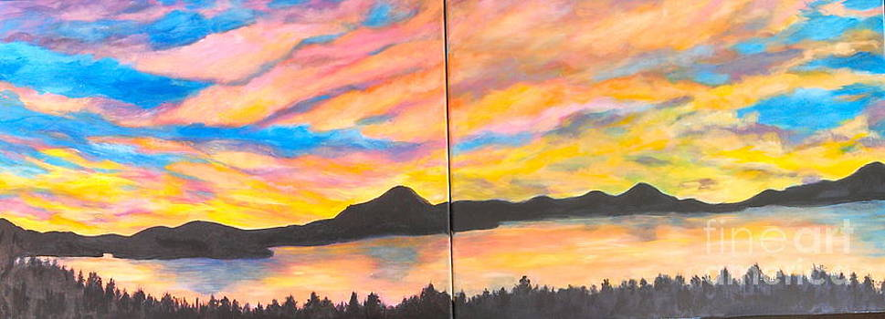 Sunset on the Lake by Julie Sauer