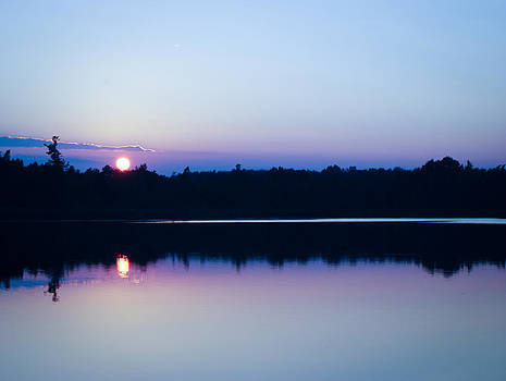 Sunset on the Lake by Laura Pineda