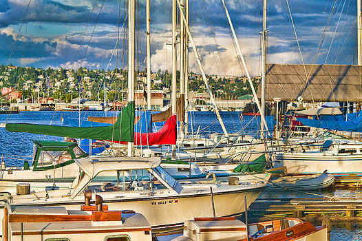 Sunset on the Marina by Chris Reed