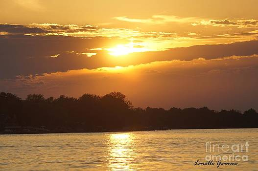 Sunset On The Niagara by Lorelle Gromus