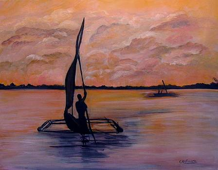 Sunset on the Nile by Carol Allen Anfinsen