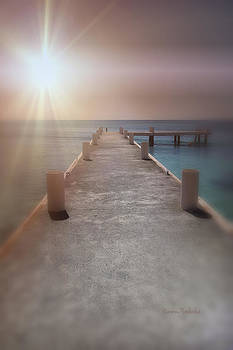 Sunset On The Pier by Ramona Murdock