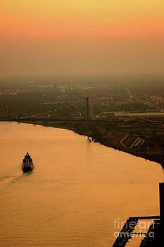 Linda Shafer - Sunset On The River