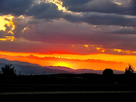Sunset on The Road by Zafer Gurel