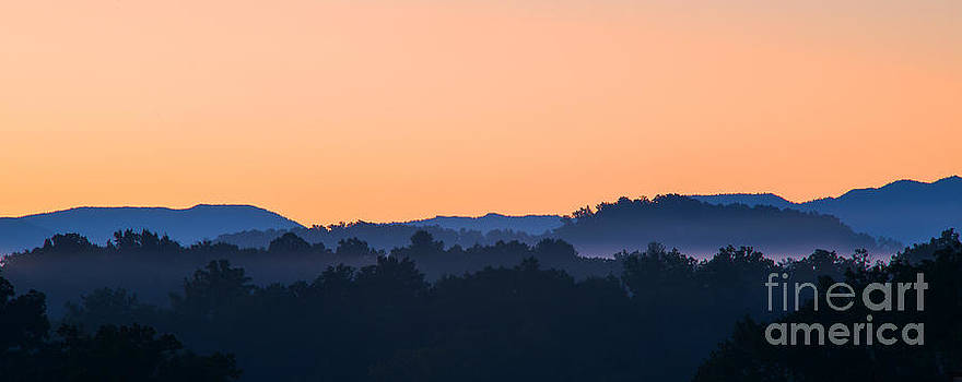 Sunset on the Smokies by Cindy Tiefenbrunn
