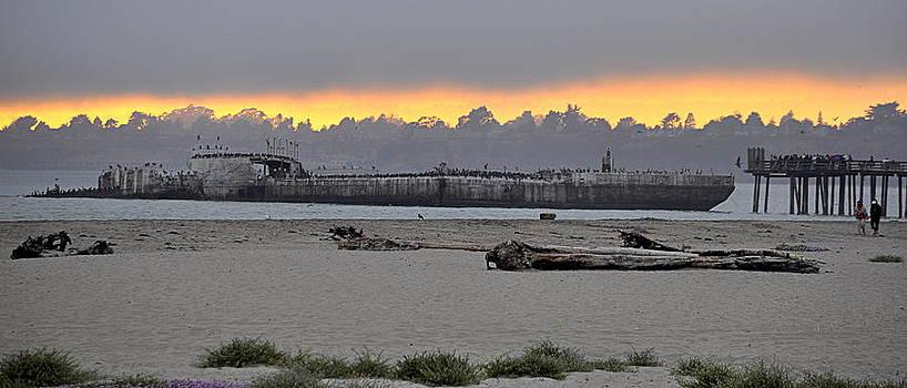 Sunset on the SS Palo Alto by AJ  Schibig