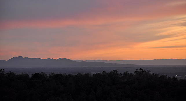 Sunset on the Sutter Buttes by AJ  Schibig