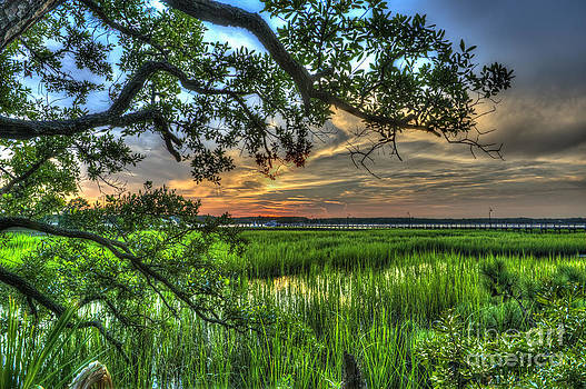 Dale Powell - Sunset on the Wando River