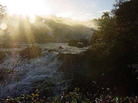 Sunset on the Waterfalls in Chile by Thomas D McManus