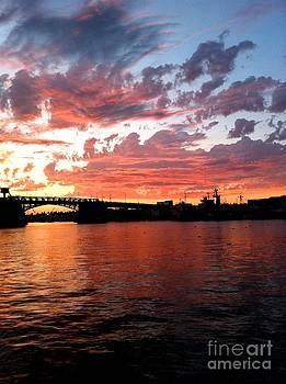 Sunset Over Ballard by Enid Gough