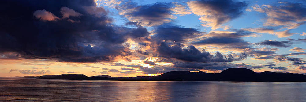 Sunset over Bantry Bay Ireland by Adrian Hendroff