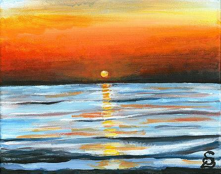 Sunset over Calm Waters by Sarah Lowe