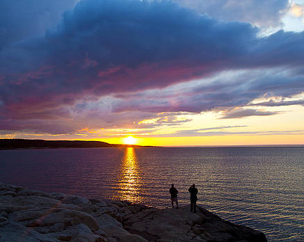 Sunset over Canso Bay by Allan MacDonald
