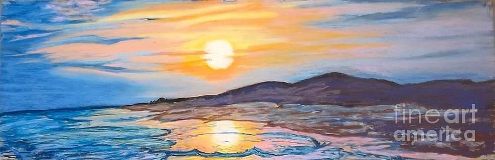 Sunset Over Coastal Dunes by Frank Giordano