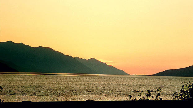 Sunset Over Cook's Inlet Alaska 2 by Denyse Duhaime
